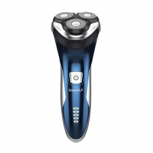 SweetLF 3D Rechargeable IPX7 Electric Shaver Wet & Dry Rotary Shaver Pop-up Trimmer