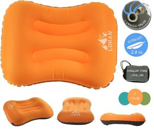LOHAN Inflatable Ultra-lightweight Camping Pillow, Compact