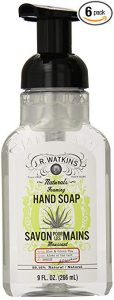 J.R. Watkins foaming 9 ounce Hand Soap, Green Tea and Aloe