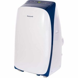 Honeywell HL14CESWB Portable Air Conditioner with Dehumidifier & Fan for Rooms Up To 700 Sq. Ft. with Remote Control (Blue/White)