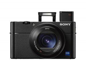 "Sony Cyber-shot DSC-RX100 V 20.1 MP Digital Still Camera with 3"" OLED, flip screen, WiFi, and 1"" sensor"