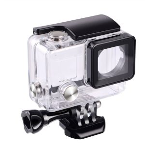 Suptig Replacement Waterproof Case Protective Housing for GoPro Hero 4, Hero 3+, Hero3 Outside Sport Camera For Underwater Use - Water Resistant up to 147ft (45m)