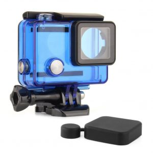 SOONSUN Transparent Blue 40M Underwater Waterproof Protective Standard Housing Case Cover for GoPro Hero 3 3Plus 4 Camera