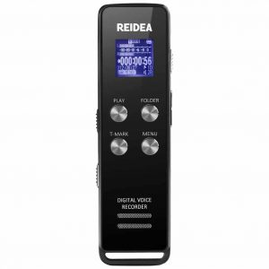 REIDEA 8GB Digital Voice Recorder Dictaphone, One-Step Noise Reduction & T-Mark, Audio Sound Activated Recorder with MP3 Player & LED Display, Perfect for Lectures Meetings Interviews etc, Black