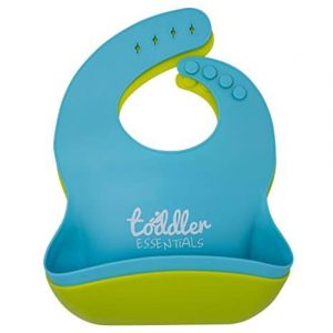 Toddler Essentials, Comfortable Soft Baby Bibs Waterproof Silicone Easily Wipes Clean! Stain-free! Spend Less Time Cleaning after Meals With Babies or Toddlers! BPA Free (2 Pack)