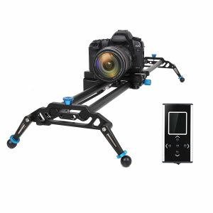 GVM Motorized Camera Slider DSLR Dolly with Automatic Looping Real Time Shooting Time Lapse Shots, Very Light Carbon Fiber, 32'' L