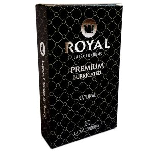 Royal Ultra Thin Condoms - Premium Lubricated, All Natural, High Quality Non-Toxic, Odor Free Latex for Long Lasting Pleasure and Performance, 10 Count