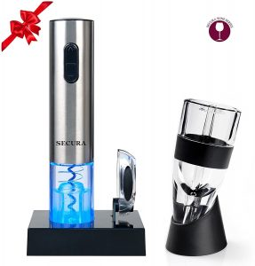 Secura Premium Wine Lover's Gift Set | 7-Piece Wine Accessories Set | Electric Wine Opener, Wine Foil Cutter, & Wine Aerator