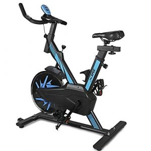 Xspec Pro Stationary Upright Exercise Bike Indoor Cycling Bicycle, Pro Black/ProRed/Blue-Advanced/Red-Advanced