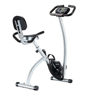 FEIERDUN Exercise Bike - Adjustable Folding Upright Magnetic Stationary Bike for Home Gym