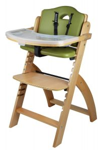 Abiie Beyond With Trays Wooden High Chair