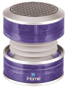 iHome 3.5mm Aux  Purple Translucent Portable Speaker