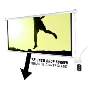 Pyle 72-Inch Portable Motorized Projector Screen