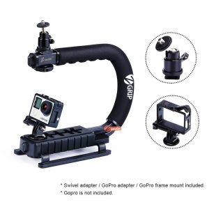 Zeadio Handheld Stabilizer with 360 Degree Rotating Adapter, GoPro Adapter & Frame Mount