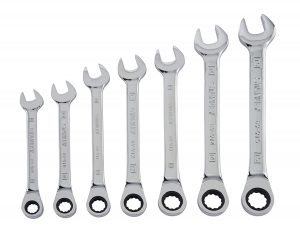 Stanley Metric 94-543W 7-Piece Ratcheting Wrench Set