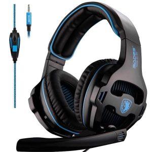 SADES SA810 Headphone Gaming Headset 3.5mm Over-ear having Mic Volume Control for XboxOne/PC/PS4