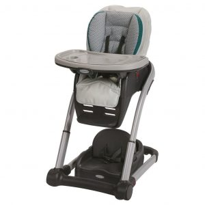 Graco Blossom Convertible 4-in-1 High Chair System for seating, Sapphire