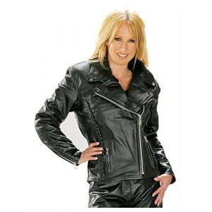 Xelement B8000 Womens Classic Leather Jacket - Large