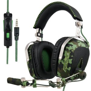 Xbox one PS4, SADES SA926T PC Gaming Headsets, Over-ear Headphones Gaming 3.5mm In-line Volume Control with Microphone