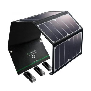 Solar Charger RAVPower Waterproof 24W Solar Panel