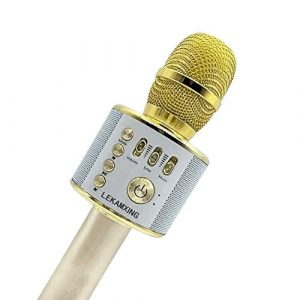 LEKAMXING Bluetooth Wireless Karaoke Microphone