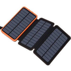 FEELLE Solar Power Bank, 24000mAh Solar Charger