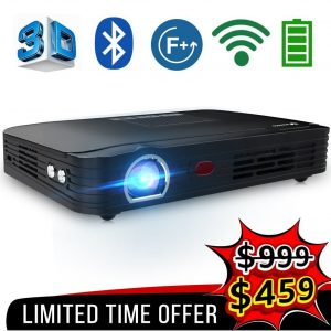 WOWOTO T8E Full Projector WiFi and Bluetooth HD Mini Projector for Gaming