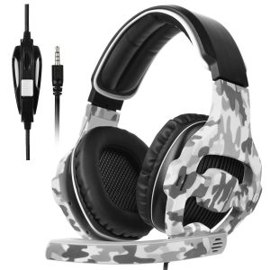 SADES New Arrival Stereo Gaming Headset SA810Plus with Hifi Mic Control Over-ear Headband Headphones-remote Noise-reduction