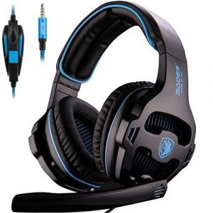 SADES 810S Stereo earphones Gaming Headset with the Volume-Control Mic