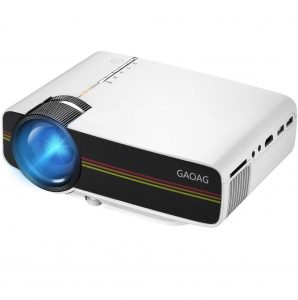 GAOAG 1080P Video Mini Projector Portable LED Projector HD Support USB VGA AV SD Card for Movie/Home/Gaming