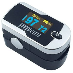 Santamedical Generation 2 OLED Fingertip Pulse Oximeter Oximetry Blood Oxygen Saturation Monitor
