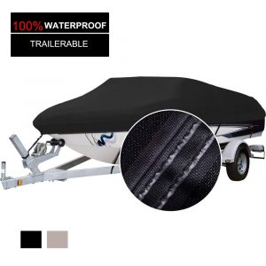 North Captain 100% Waterproof Trailerable 600D Polyester Boat Cover