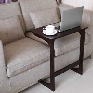 HOMFA Bamboo Snack Table Coffee Sofa Couch End Table