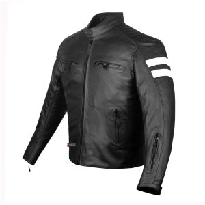 New AXE Men's Armor Leather Jacket Motorcycle