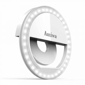 Auxiwa Clip on Selfie Ring Light (Rechargeable battery)