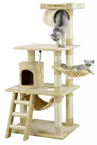 Go Pet Club Cat Tree Furniture 62 inches High