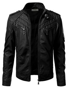 IDARBI Men's Quality Leather Jacket