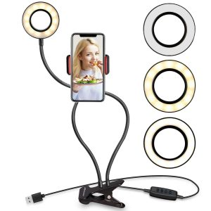 UBeesize- Selfie Ring Phone Holder Stand Makeup:Live Stream