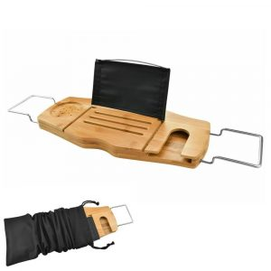 Soothing Styles The Ultimate Bamboo-Wood Bathtub Caddy Tray