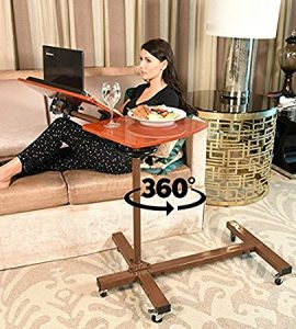 Sharper Image Tilt Snack Table Adjustable Best Over Bed Table