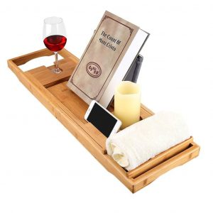 LANGRIA-Bamboo Bathtub Caddy Tray