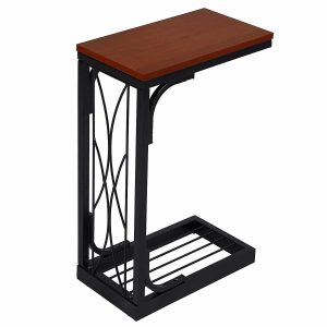 SONGMICS Snack Table Sofa Side Table Brown