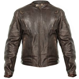 Xelement B7203 Men's Motorcycle Leather Jacket