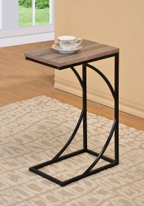 eHomeProducts Reclaimed Wood Snack Table End Table Magazine Black Frame