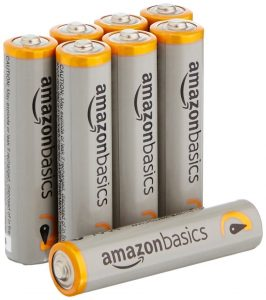 AmazonBasics 8-Pack AAA Alkaline Batteries