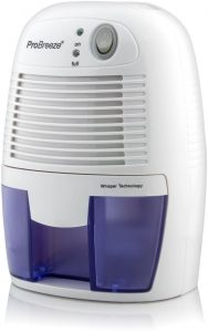 Pro Breeze Electric Mini- Dehumidifier, 1200 Cubic Feet Portable and Compact for Damp Air, Mold, Moisture