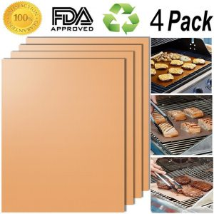 SMAID Copper Grill Mat Set of 4