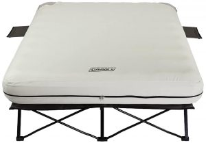 Coleman Airbed Folding Cot with 4D Battery Pump and Side Table