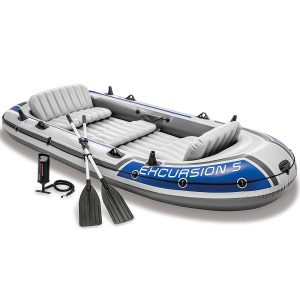 Intex Excursion 5, Inflatable Boat Set with Aluminum Oars
