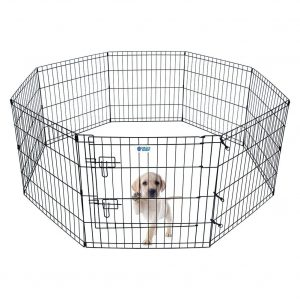 HACHI SHOP Pet Playpen Dog Exercise Pen - 24 inches